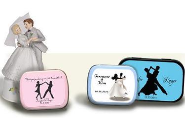 Personalized Mint Box Favors Wedding Dance Theme Favors